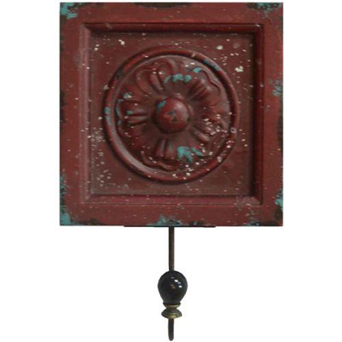 Best Home Products wandkapstok Vintage rood 1 haak
