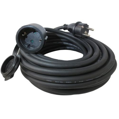 Eurom câble de rallonge noir 10m