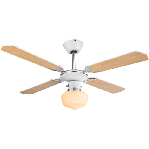 Globo plafond ventilator Sargantana naturel/wit