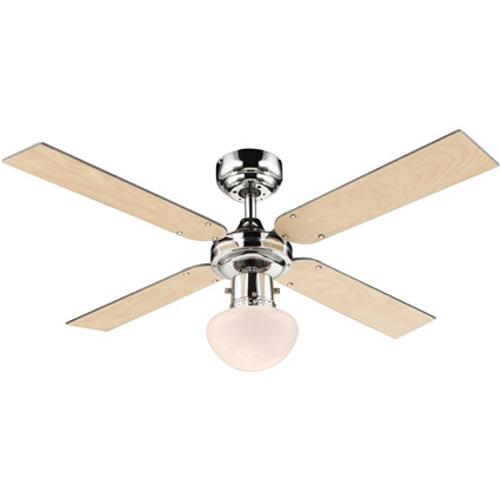 Globo plafond ventilator Champion naturel/zwart