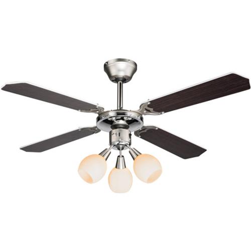 Globo plafond ventilator Redona zwart/wit
