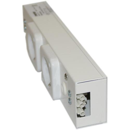 Doorkoppelbare stopcontact Hoogte 35 mm 2 stopcontacten