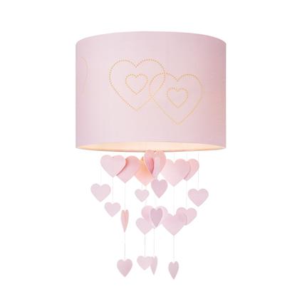 Home Sweet Home lampenkap Hearts 30 cm roze