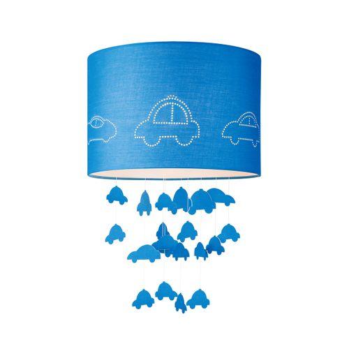 Abat-jour Home Sweet Home 'Cars' bleu Ø 30 cm