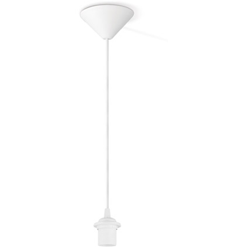 Suspension Home Sweet Home blanc 60W
