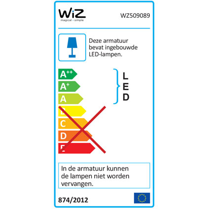 STELLAR plafondlamp - 2100lm - WiZ colors - IP23 - brushed nickel - inclusief WiZmote
