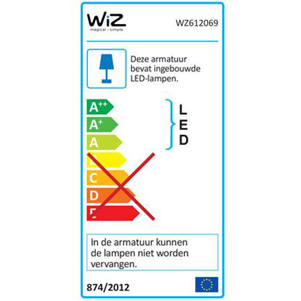 HERO tafellamp - 620lm - WiZ colors - houtafwerking - exclusief WiZmote