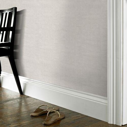 Papier peint intissé Decomode Lin uni blanc gris