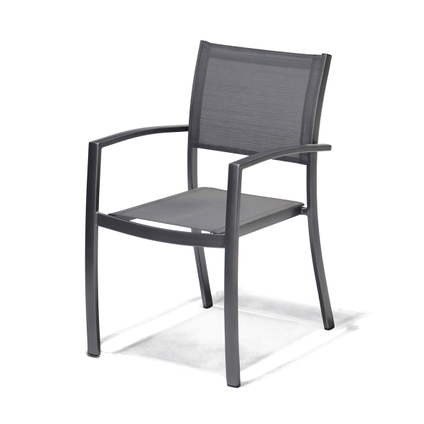 Chaise de jardin Central Park 'Dafne' gris