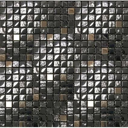 Mozaïek tegel Edel zwart 30x30cm