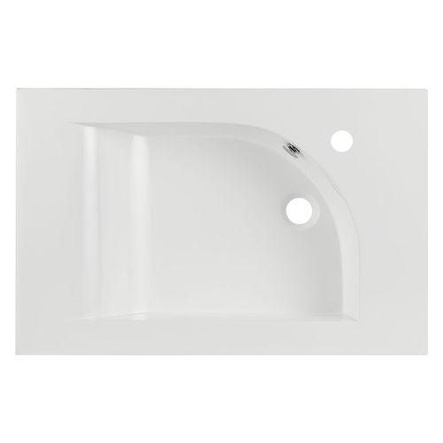 Differnz wastafel Style 60cm asymmetrisch rechts wit