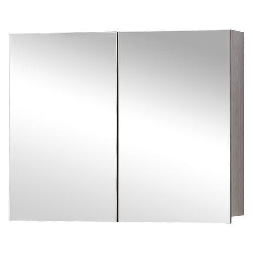 Differnz spiegelkast Style 90cm grijs eiken