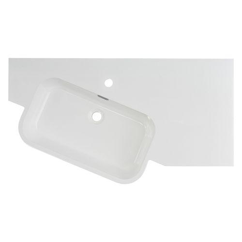 Differnz wastafel Fabulous 100cm hoekmodel links hoogglans wit