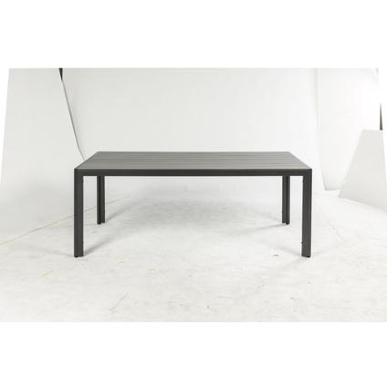Central Park tuintafel Dafne antraciet aluminium 160x88cm