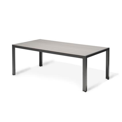 Table de jardin Central Park Daphne anthracite aluminium 200x100cm