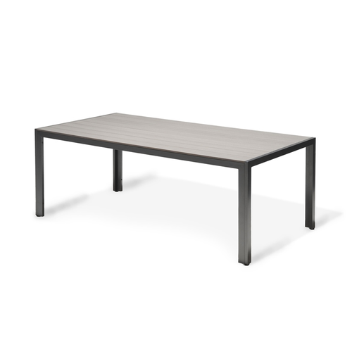 Table de jardin Central Park Daphne anthracite aluminium 200x100cm