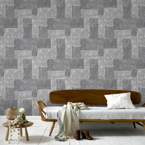 Papier peint intissé Sublime Tuiles gris foncé
