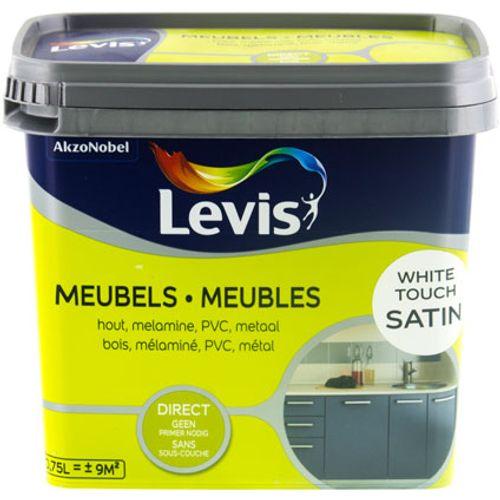 Peinture Levis 'Meubles' white touch satin 750ml