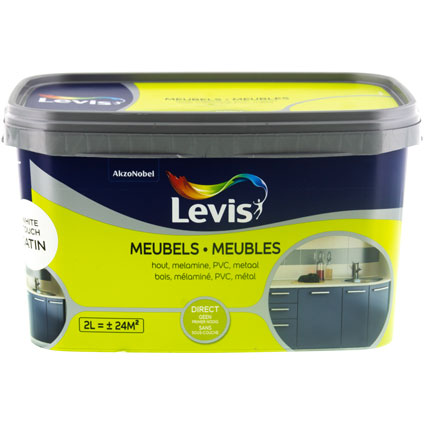 Peinture Levis 'Meubles' white touch satin 2L
