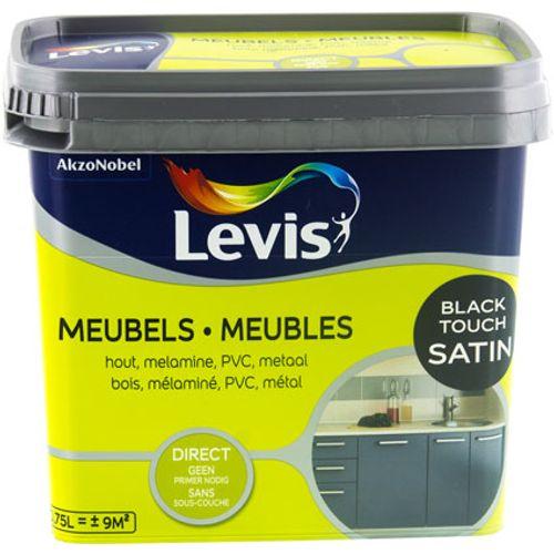 Peinture Levis 'Meubles' black touch satin 750ml