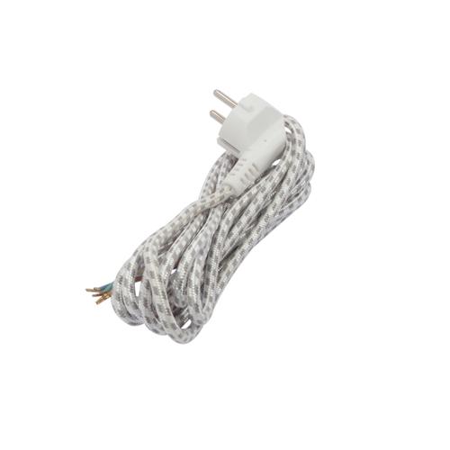 Chacon strijkijzersnoer 3x1 3m zwart wit