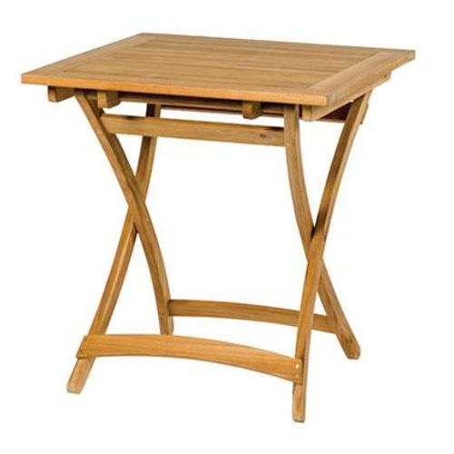 Table de bistrot Central Park Belem bois teck 70x70cm