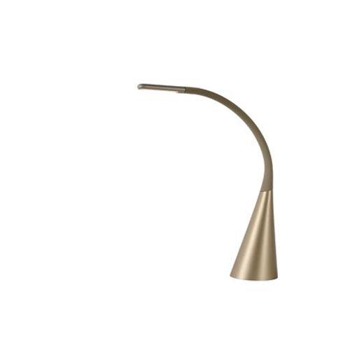 Lampe à poser Lucide 'Goosy' or mat 4W