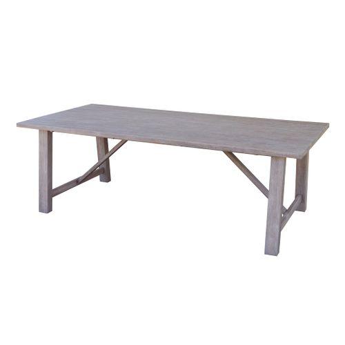 Table de jardin Central Park 'Briza' eucalyptus brun 230 x 110 cm