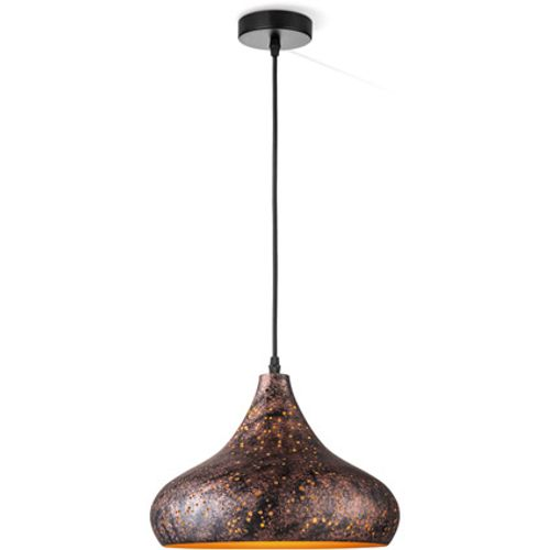 Suspension Home Sweet Home 'Rusty A' brun 60W