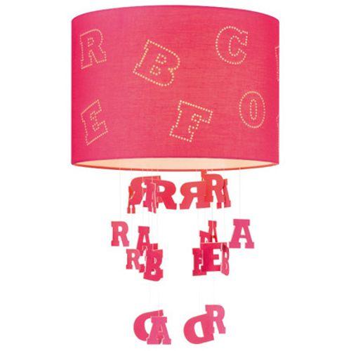 Abat-jour Home Sweet Home 'Letters' fuchsia Ø 30 cm