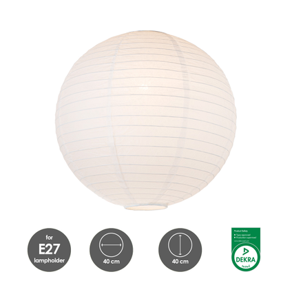 Home Sweet Home lampenkap Lampion 40 cm wit
