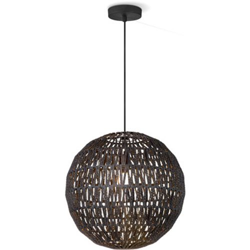 Home Sweet Home hanglamp Rope 40 cm zwart
