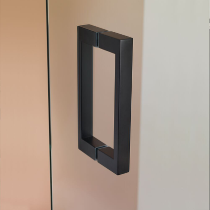 Sealskin get wet I AM draaideur rechts voor het maken van een hoekinstap 900mm mat zwart | 8mm helder veiligheidsglas + antikalk