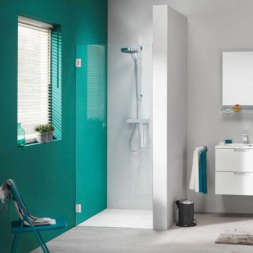 Porte de douche pivotante pour niche Sealskin Get Wet I AM chrome 70cm 8mm verre sécurit transparent anti-calcaire