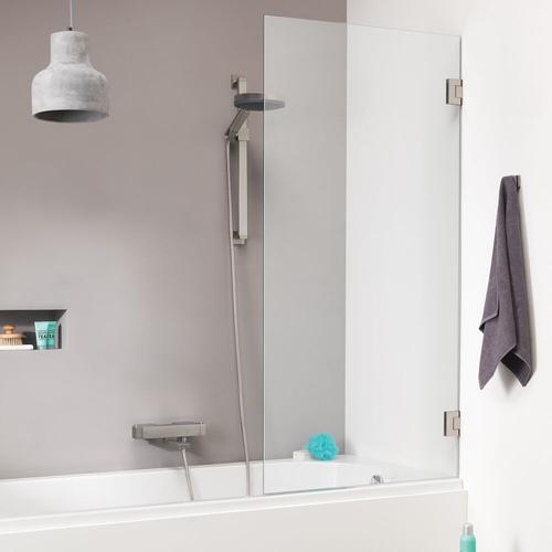 Pare baignoire Sealskin Get Wet I AM chrome 75x160cm|8mm verre sécurit transparent anti-calcaire