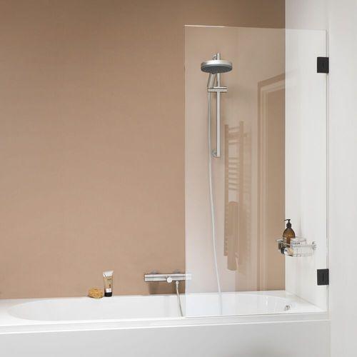 Pare baignoire Sealskin Get Wet I AM noir mat 85x160cm|8mm verre sécurit transparent anti-calcaire