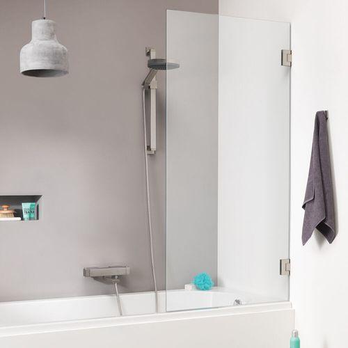 Pare baignoire Sealskin Get Wet I AM inox 85x160cm|8mm verre sécurit transparent anti-calcaire