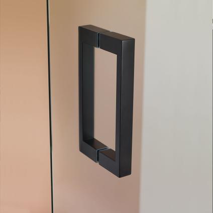 Sealskin Get Wet I AM maatwerk draaideur rechts voor het maken van een hoekinstap 701-80cm RVS (look)   8mm semi gesatineerd veiligheidsglas + antikalk