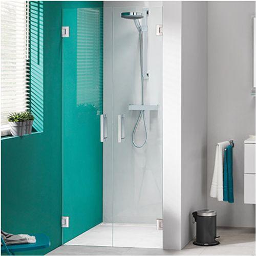 Portes de douche battantes pour alcôve Get Wet Sealskin 'I AM' chrome 80 cm