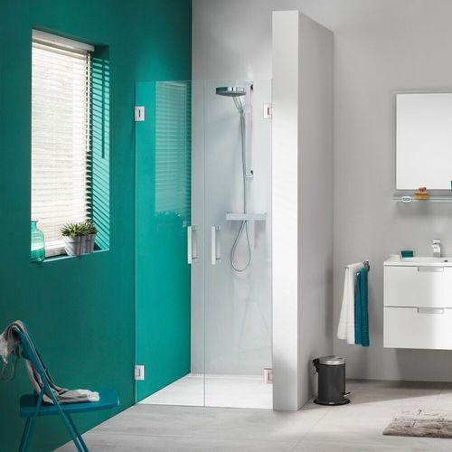 Double portes de douche battantes pour niche Sealskin Get Wet I AM chrome 90cm 8mm verre sécurit transparent anti-calcaire
