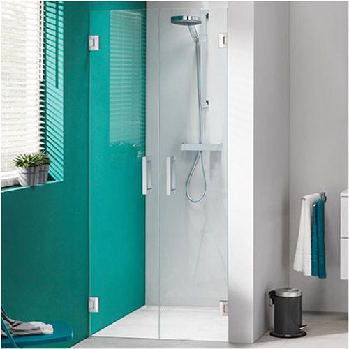 Portes de douche battantes pour alcôve Get Wet Sealskin 'I AM' inox 100 cm