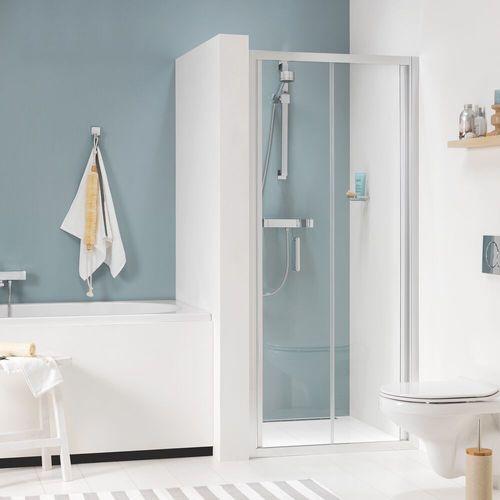 Porte de douche pliante pour niche Sealskin Get Wet Compact aluminium argenté poli 80cm|6mm verre sécurit transparent