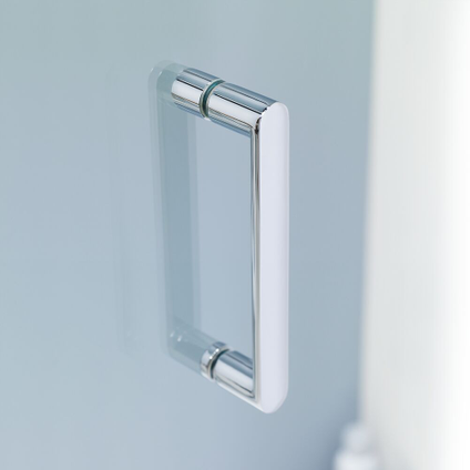 Sealskin Get Wet Compact vouwdeur in nis 80cm | 6mm helder veiligheidsglas