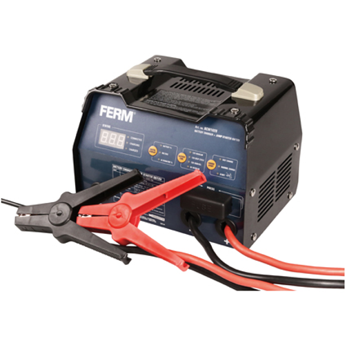 FERM BCM1020 Acculader met starthulp + Impuls druppellading 6V/12V
