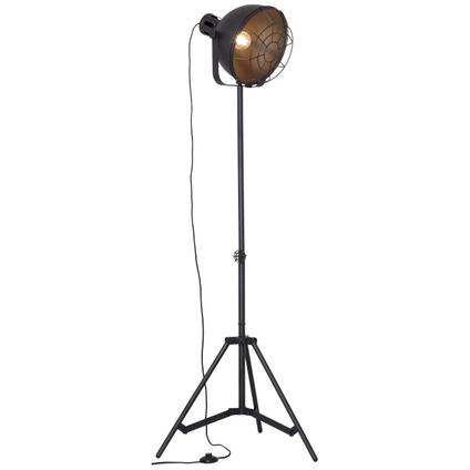 Brilliant vloerlamp Jesper zwart 60W