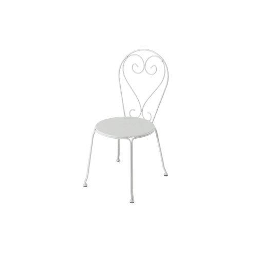 Chaise bistro Central Park 'Lucille' acier blanc 46 x 89,5 cm