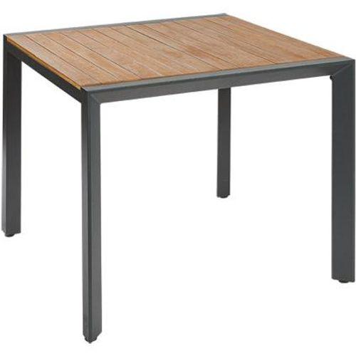 Table de jardin Central Park Analee eucalyptus/aluminium 90x90cm
