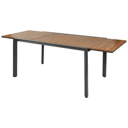 Table de jardin Central Park Analee extensible 146/219x90cm