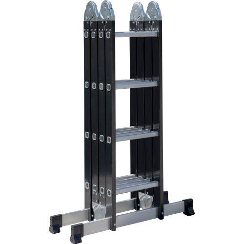 Escalo plooiladder 'Multifold' aluminium 4 x 4 treden