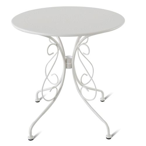 Table de bistrot Central Park Lucille blanc acier Ø70cm